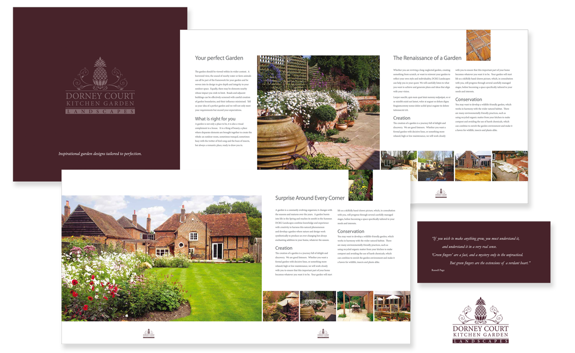 Dorney Court Kitchen Garden Landscapes Brochure