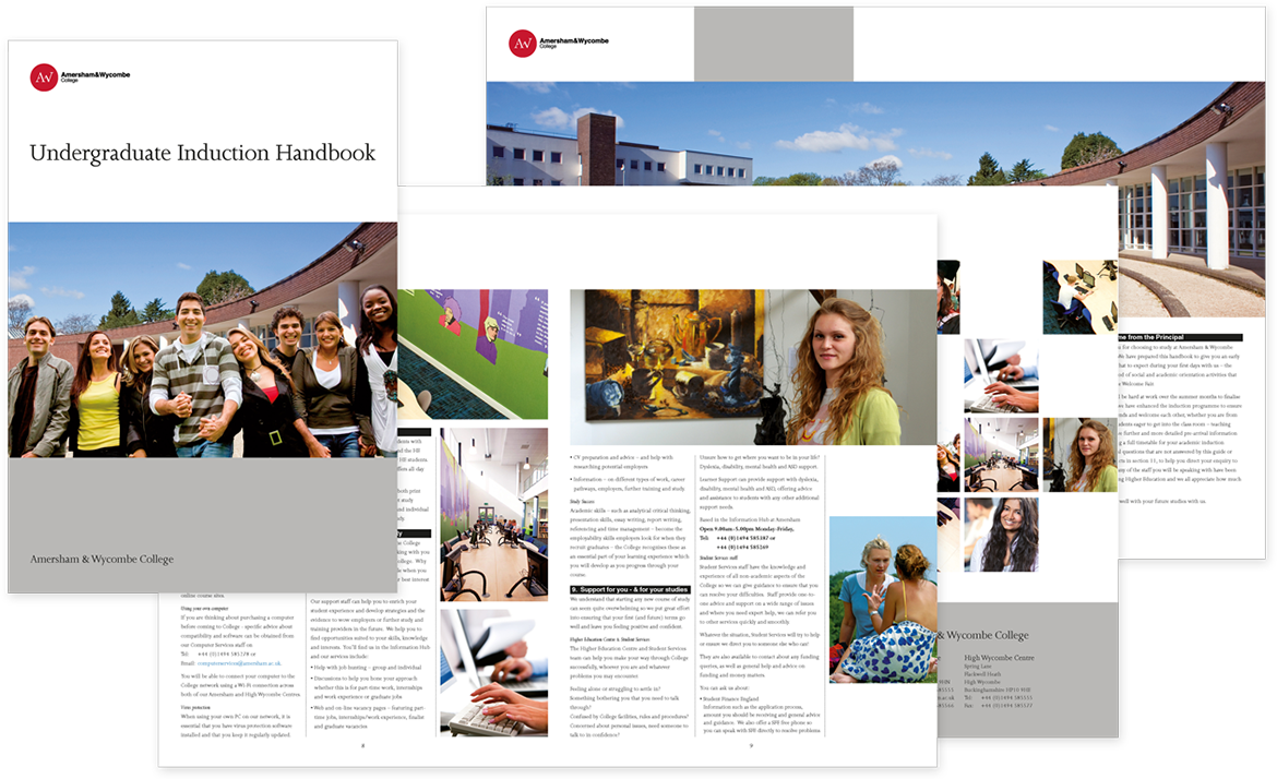 Amersham & Wycombe College Induction Brochure