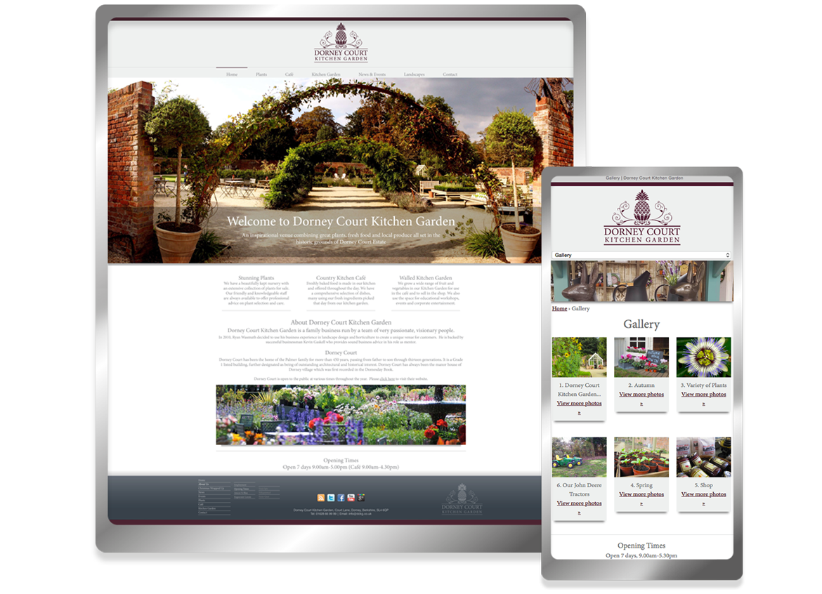 Dorney Court Kitchen Garden website