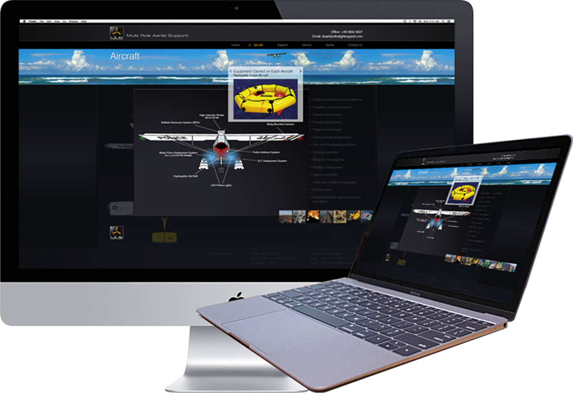 ULS Aircraft Website